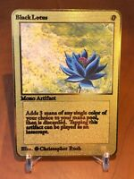 ☆☆☆ Black Lotus Magic The Gathering Karte Metall Gold English ☆☆☆