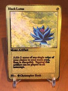 ☆☆☆ Black Lotus Magic The Gathering Karte Metall Gold English ☆☆☆