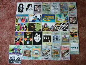 31 Unused Postcards of THE BEATLES & ALBUMS.  Modern size. Mint condition