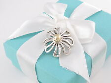 Tiffany & Co Silver 18K Gold Large Huge Picasso Daisy Flower Brooch Pin