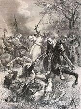 Battle of Marston Moor 1644 Ironsides engraving 19th century Civil War England