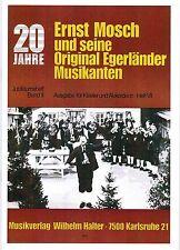 Akkordeon Noten : Ernst Mosch und Orig. Egerländer  Jubiläumsheft 2 mittelschwer