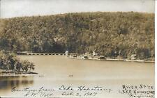 River Styx Lake Hopatcong NJ RPPC real photo postcard postally used in 1907