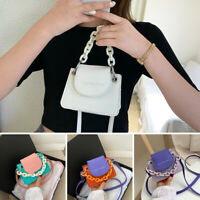 Ladies Casual Hit Color Shoulder Bag Women Acrylic Chain Mini Crossbody Handbag