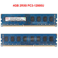 For Hynix 4GB 2Rx8 PC3-12800U DDR3-1600MHZ 240Pin DIMM Desktop Memory RAM Intel