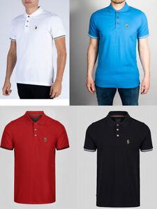 Luke Mead Men Short Sleeve Cotton Pique Jersey Polo Shirt top T shirt M L XL 2XL