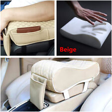 1Pcs Beige Car Seat Rest Consoles Center Box Armrest Pillow Memory Foam Cushion