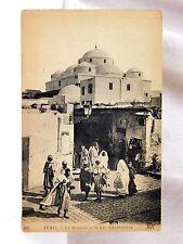 Circa 1910-20 Tunis Middle East, Rue Sidi-Mahrez Mosque Unused P27