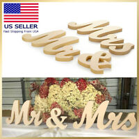 Mr and Mrs Sign Table Sign Rustic Letters Vintage Wedding Wooden Style Decor