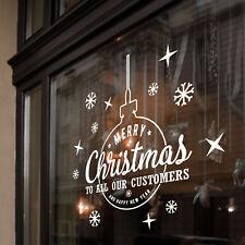 Fröhliche Weihnachten Zu Kunden Neues Jahr Windows Aufkleber Dekoration B39
