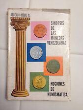 Sinopsis De Las Monedas Venezolanas Nociones De Numismática Alberto Sivoli 1966