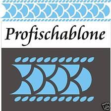 Schablone, Wandschablone, Malerschablone, Stupfschablone, Fries, Schuppenmuster