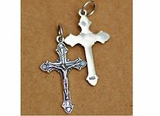 Sterling 925 Silver Jesus bitter Crucifix / Rosary / Cross Gothic 3 X 2 CM