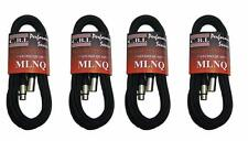 (4) 10' CBI Studio Quad MLNQ Mic Cables XLR MAKE OFFER!!
