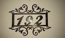 House Number Address Metal Sign, Metal Art