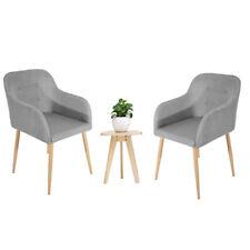2x Stühle Vintage Grau Esszimmerstuhl Küchenstuhl Esszimmerstühle Stoffbezug  DE