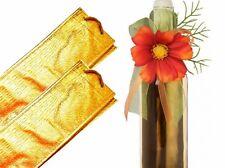 5x Geschenkbeutel extra stabil Flaschenbeutel Gold, Flaschentüte, Geschenktasche