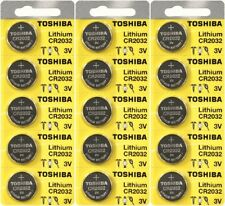 Toshiba CR2032 3 Volt Lithium Coin Battery (15 Batteries)