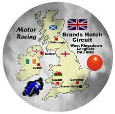 MOTOR RACING (BRANDS HATCH) ROUND SOUVENIR NOVELTY FRIDGE MAGNET / MAP / GIFTS