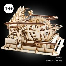 ROKR DIY Marble Run Wooden Gear Drive Mechanical Model Building Kits Toy Gift