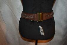 Steve Madden Women's Brown Stretch Elastic Belt NWT Size M/L MSRP $38