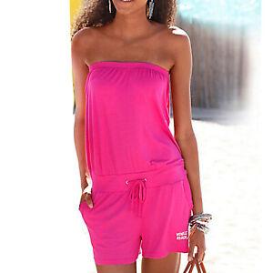 MARKEN Sommer Playsuit Overall Gr.34 XS Shirt Jersey Jumpsuit pink Bandeau