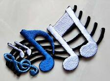 #19 Musical Notation Music Note Symbols Embroidered Iron on Patch Free Postage
