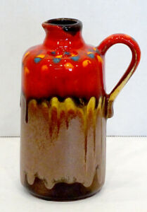 Fat lava jug Cyclop pottery by Charles Cart. French pottery