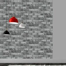 Debona Wallpaper Brick Design (6753) - Grey