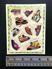 HALLMARK SNEAKERS puffy sticker sheet vintage 1991 VERY RARE
