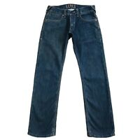 Vintage Levi 'S 514 Bleu Foncé Slim Jeans Coupe Droite Taille W32
