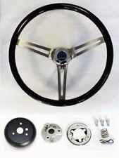 "Dodge Dart Charger Demon Black Wood Steering Wheel High Gloss Grip 15"""