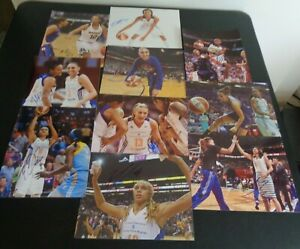 PHOENIX MERCURY Womens Basketball WNBA Signed 8 x 10 Photo Lot of 10 Taurasi +