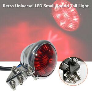 Motorcycle Modified LED Brake Tail Light Signal Retro Universal Small Round Lamp