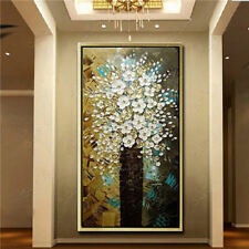 VV077 Modern 100% Hand-painted abstract oil painting Flower unframed 48in