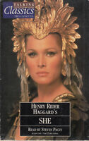 Henry Rider Haggard She Talking Classics 2 Cassette Audio Book Abridged FASTPOST