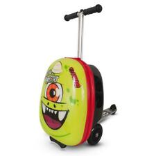 Kids Travel Scooter Case Sid The Cyclops Cabin Luggage Hard Side 4-8 Yrs Wheels