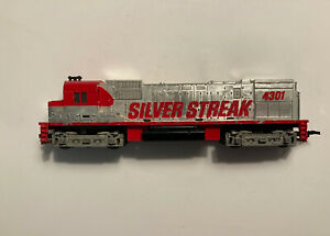 Vintage Ho Scale Tyco Union Pacific Silver Streak #4301 For Parts or Repair Used