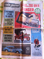>L'AUTO-JOURNAL n°362 du 10/1964; Couverture Johnny Hallyday/ Faillite Autoroute