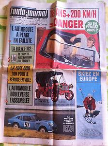 >L'AUTO-JOURNAL n°362 du 10/1964; Couverture Johnny Hallyday/ Faillite Autoroute