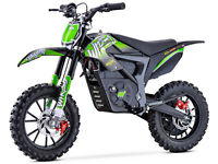 Stomp Wired Electric MX Motocross All Terrain Off Road Pit Bike - Neon Green