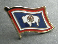 New listing Wyoming Us State Single Flag Lapel Pin Badge 7/8 Inch