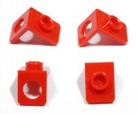 LEGO - 4 x Winkelhalter 1x1 rot / Red Neck Bracket / 42446 NEUWARE