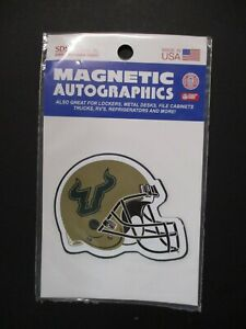 USF South Florida Bulls Magnetic Helmet Sticker Size 2.5 x 3.25 inches