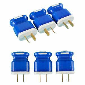 5 x Adjustable 2 Pin 250V/10A AU/US Plug Rewirable Power Cord Connector DIY Unit