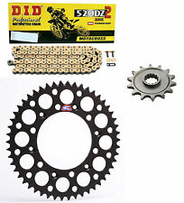 DID race chain & 14t/51t Renthal black sprocket kit Suzuki RMZ450 2006-2012