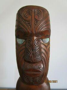 Maori Tekoteko Tiki Vintage Wood Carving Rare