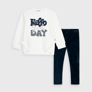 Mayoral Girls Embroidered Leggings set in Navy (4728-55) Aged 2-8 Years