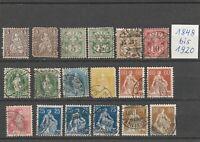 Helvetia Lot mit sehr alten Briefmarken 1848-1920  18 Werte