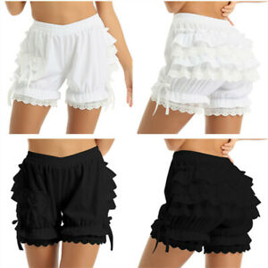 Women's Ruffle Lace Panties Dance Bloomers Lounge Booty Shorts Slip Pettipants